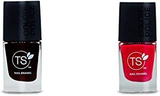 TS Nail Enamel - Color Police, Classic Wine, 9 ml And TS Nail Enamel - Color Police, Pouty Pink, 9 ml