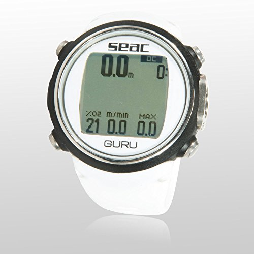 SEAC Guru Dive Computer Wrist Watch with Digital Compass, White