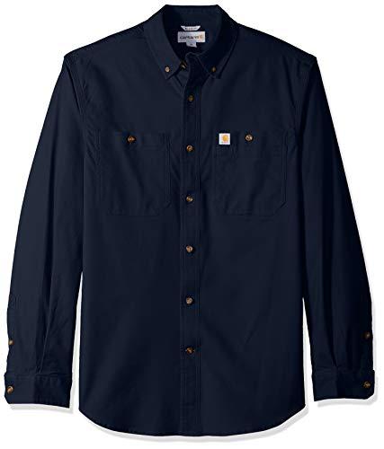 Carhartt Herren Rugged Flex Rigby Long-Sleeve Work Shirt, Navy, L