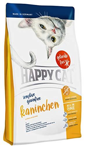 Happy Cat Cibo Secco per Gatti con Pelle Sensibile Grain-Free Rabbit - 300 gr