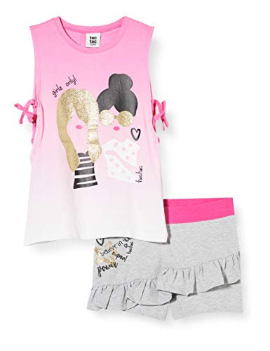 Tuc Tuc Conjunto Camiseta Y Falda Punto Mensaje NIÑA Rosa Powerful