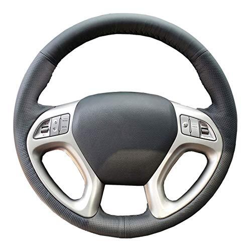 PULenkradabdeckung Car für Hyundai Ix35 Tucson 2 2011~2015 / spezielles LenkradlenkerGeflecht