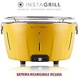 Classe Italy InstaGrill Barbecue a Carbone Senza Fumo, Giallo