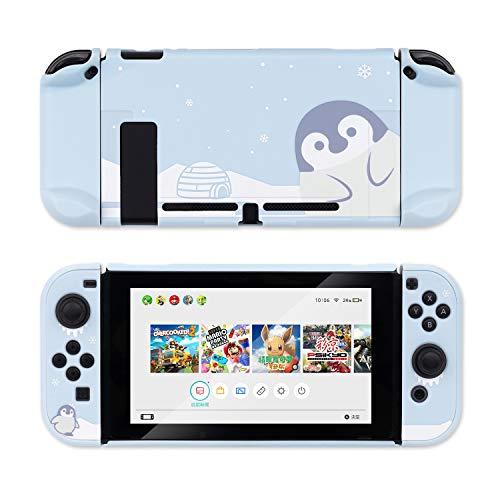 Funda protectora Switch Blue Penguin Funda delgada Compatible con Nintendo Switch y Joy Con - Carcasa dura que absorbe los golpes y que no se raya