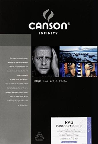 Canson Infinity Rag Photographique 210 - Papel fotográfico (210 g/m², A3+)