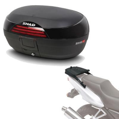 Sh46he80 - Kit fijacion y Maleta baul Trasero sh46 Compatible con Triumph Tiger 800 XC/XR/xrx 2011-2017 Triumph Tiger 800 XC 2011-2011 Triumph Tiger 800 2011-2016