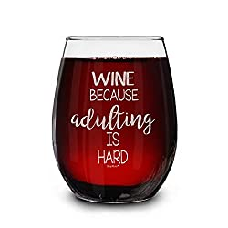 Shop4Ever Wine Because Adulting is Hard