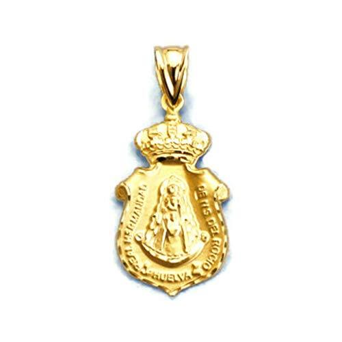 P.MORA Medalla HUELVA Virgen del Rocio Oro 18K 14000342