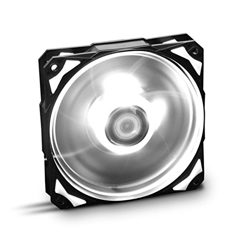 Nox H-FAN - NXHUMMERF120LW - Ventilador para Caja PC, 120 mm, LED Blanco
