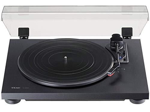 TEAC TN-180BT-B Giradischi analogico a 3 velocità con Phono EQ e Bluetooth, Nero