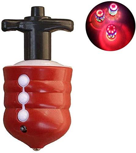 Plastic Multi Color Spinning Tops - Luz de flash giroscópica con música para niños, color rojo