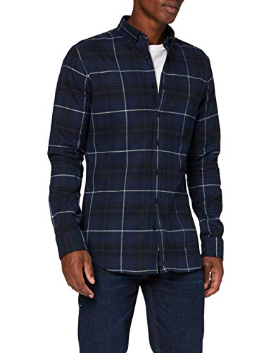Seidensticker Herren Business Hemd, Blau (Dunkelblau), 41