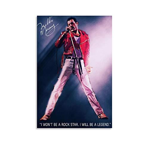 HHRF Freddie Mercury 34 - Poster da parete con musica rock classica, 30 x 45 cm