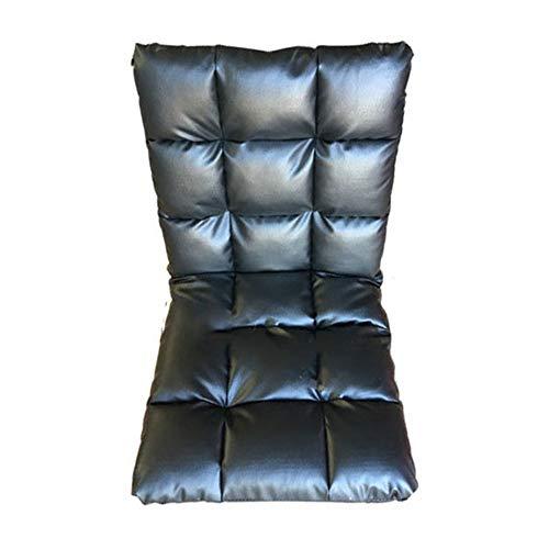 BGROEST Lehrstuhl für Kinder und Erwachsene Beinloser Outdoor-Stuhl, der Rückenlehne stützt, bequemes leichtes Kissen (Farbe : Schwarz, Größe : 65 * 115 * 11cm)
