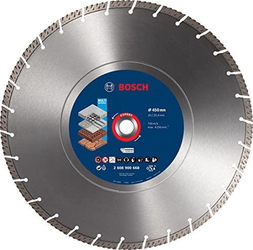 Bosch Professional 1 x Discos de corte de diamante Expert MultiMaterial, para Hormigón, 450 mm, Accesorios Sierra circular de mesa, Sierra a gasolina