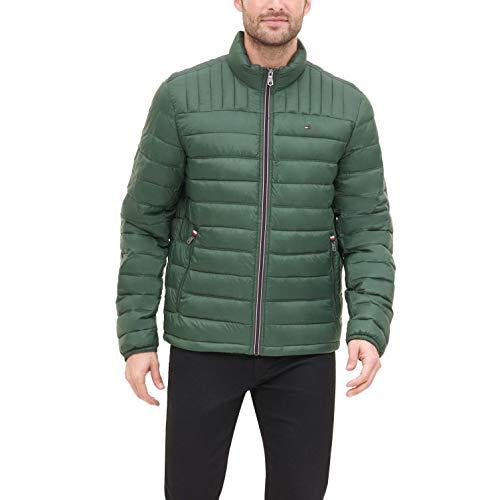 Tommy Hilfiger Men's Ultra Loft Lightweight Packable Puffer Jacket (Standard and Big & Tall), hunter green, Medium