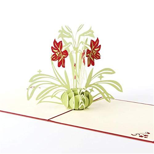 TXDIRECT 3D-Popup-Karte Feierkarte Laserschnitt Bastelpapier Kreatives Geschenk Papercraft Handmade 3D Pop Up Hochzeitskarten
