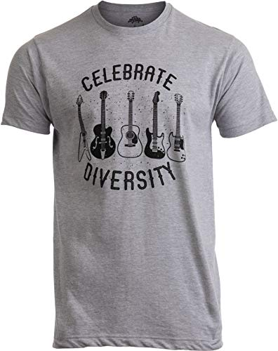 Celebrate Diversity | Funny Guitar Player Musician Music Joke Men Women T-Shirt