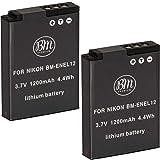 BM 2 EN-EL12 Batteries for Nikon Coolpix A1000, B600, W300, A900, AW100, AW110, AW120, AW130, S6300, S8100, S8200, S9050 S9200 S9300, S9400, S9500, S9700, S9900, P310, P330, P340, KeyMission 170, 360