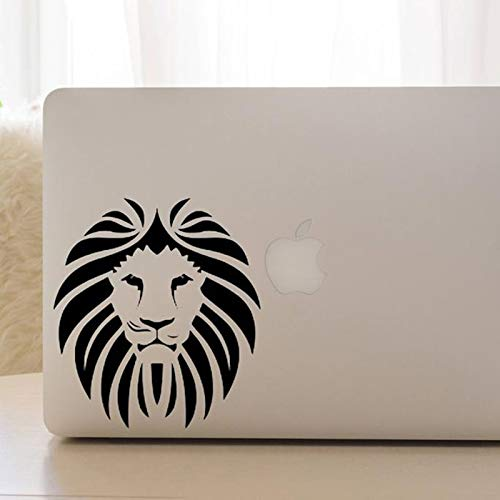 Lion Lion Head Case Vinilo Etiqueta de la pared Piel Taza de café Coche Art Deco