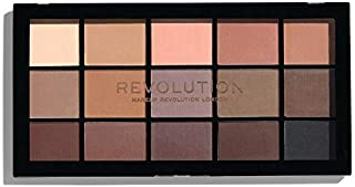 Makeup Revolution Eyeshadow Palette, Reloaded Basic Mattes, Colors Include Nude, Cream, Beige, Brown and Deep Plumb