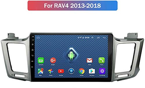 BJYG Android 9.1 8 Core 4G WiFi Autoradio für Toyota RAV4 2013-2018, Eingebaute CarPlay/DSP/Rückfahrkamera (Geschenk), Unterstützt GPS/RDS/OBD/DVR/DAB, 4G WiFi 4G + 64G