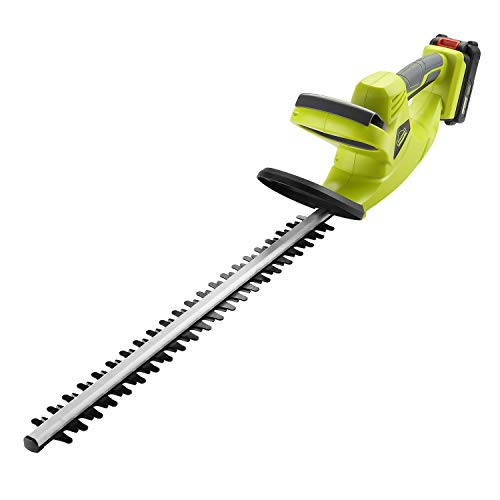 DEWINNER Cordless Hedge Trimmer with Cover, 20V 2000mAh Lithium ion Battery, Electric Cutter, 65CM Blade, Cutting Length 51cm, 16 mm Tooth Opening Capacity, 1Hr Fast Charger.