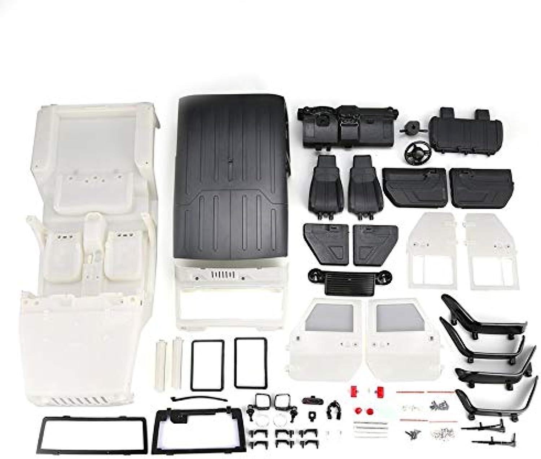 CHANNIKODE Unassembled Hard Plastic Car Shell Body DIY Kit for 313mm Wheelbase 1 10 Wrangler Jeep Axial SCX10 RC Car Crawler Vehicle