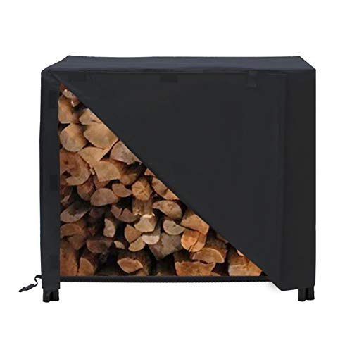 Find Discount Firewood Log Rack Cover, 600D All-Weather Heavy Duty Firewood Cover Protects Against R...
