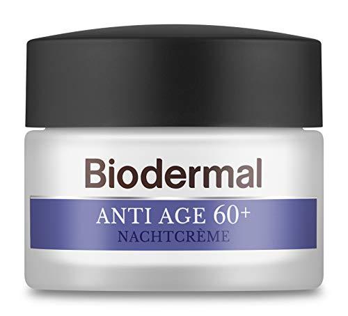 Biodermal Anti Age 60+ - Nachtcrème tegen huidveroudering - Deze nachtcreme helpt om de fijne lijntjes en rimpels te verminderen - 50ml