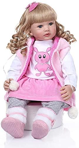 dh-17 Reborn Dolls 24 pulgadas tamaño real renacido muñecas rubio pelo princesa niñas regalos juguetes pasados EN71 y ASTM