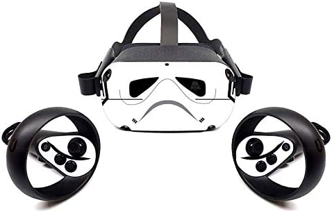 Oculus Quest VR Headset and Controller Sticker, Vinyl Decal Skin for VR Headset and Controller, Virtual Reality Protective Accessories - Black and White