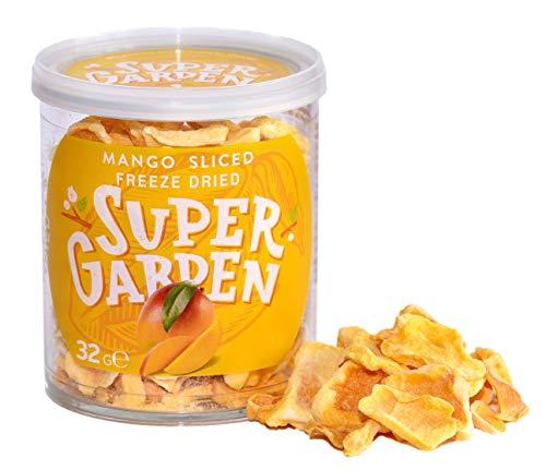 Supergarden Gefriergetrocknete Mango - Gesunder Snack - 100% Rein Und Natürlich - Für Veganer Geeignet - Ohne Zuckerzusatz, Künstliche Zusatzstoffe Und Konservierungsmittel