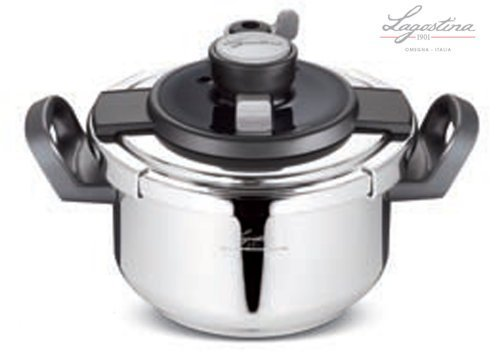 Idea cucina: PENTOLA A PRESSIONE LAGOSTINA CLIPSÒ 4,5lt con fondo a INDUZIONE diametro 22cm. CESTELLO e RICETTARIO INCLUSI
