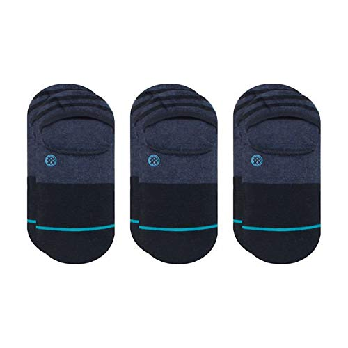 Stance Men's Gamut II 3-Pack No Show Sock, Navy - L