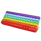 Alexsky Zappelspielzeug Push Bubble Sensory Pop on It Angstlinderung Silikon Regenbogen Tastatur Stressspielzeug für Kinder und Erwachsene