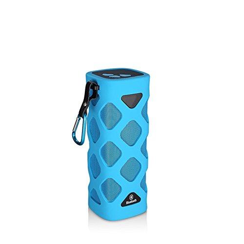 QAZWSX Bluetooth Lautsprecher Wasserdicht Im Freien, 2000Mah, USB, Ride Row Subwoofer,Blue