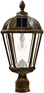 Gama Sonic GS-98B-F-WB Royal Bulb Lamp Outdoor Solar Light Fixture, 3