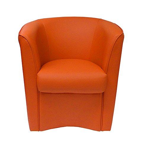 Poltrona Arancione in Ecopelle per Cucina Sala da Pranzo Ufficio Camera cameretta