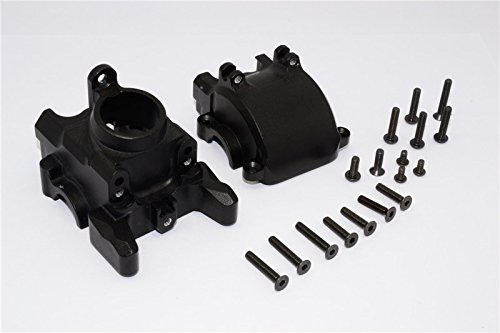 GPM Axial Yeti XL Monster Buggy Upgrade Pièces Aluminium Front Axle Housing Mount - 1 Set Black