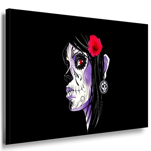 LaraArt Gothic Santa Muerte Comic Frau 120 x 80 cm   Premium Kunstdruck Made in Germany   Top...