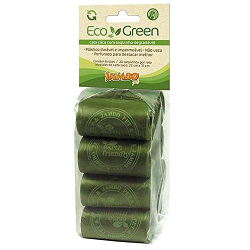Refil Sacola com 8 Rolos Eco Green Jambo para Cães