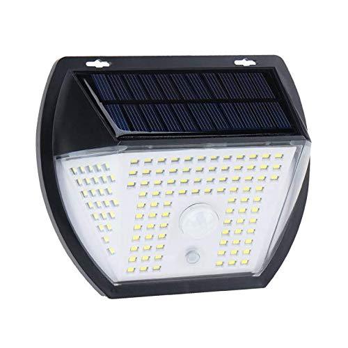 Luz Solar Exterior, OMERIL Focos Led Exterior Solares 2000 Lumens con 3 Modos, Iluminacion Exterior Solar de Ángulo 270°con 138 LED, Luz Solar Sensor Movimiento Impermeable para Jardín, Terraza