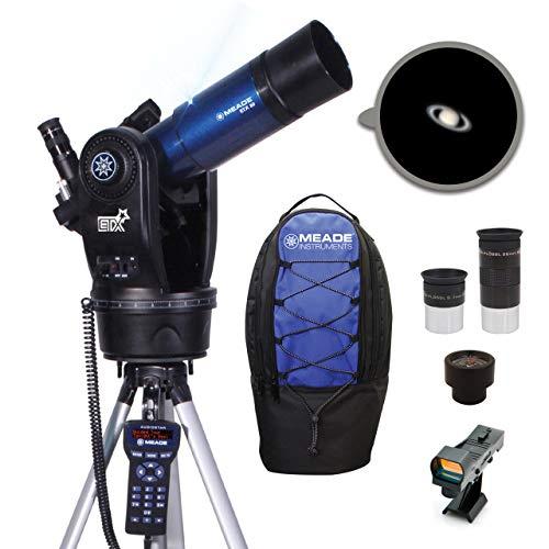 Meade Instrumente etx80Observer tragbar Computergestütztes Teleskop mit Rucksack–Blau Metallic