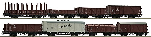 Set: 8-teilig, Güterwagen, DR