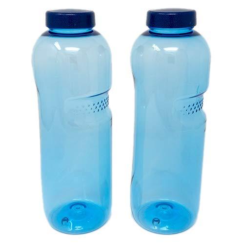 SAXONICA Trinkflasche aus Tritan 2 x 1 Liter ohne Weichmacher BPA frei (Bisphenol A frei) für Wasser, Milch oder Saft