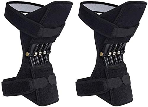 Holady Breathable Joint Support Knee Pads Recovery Brace - Non-Slip Pain Relief Knee Lift Leg Band - Protective Sports Knee Stabilizer Pads Rebound Spring Force Knee Power Enhancer Booster