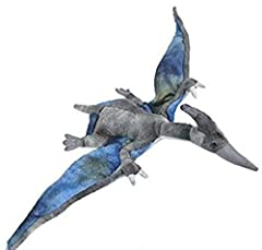 """Made with Ultra Soft Plush Pteranodon has bendable/moldable wings Lock washer eyes for safety Perfect for cuddling and interactive Play Measures approximately 13.5"""""""