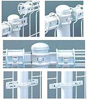 メッシュフェンス【間柱タイプ】中間用支柱(支柱+中間部品セット)高600対応 (ホワイト)