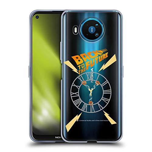 Head Case Designs Oficial Back to The Future Torre del Reloj I Gráficos Carcasa de Gel de Silicona Compatible con Nokia 8.3 5G